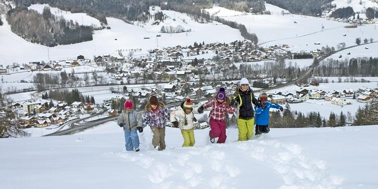 Winter in der Gemeinde Aich