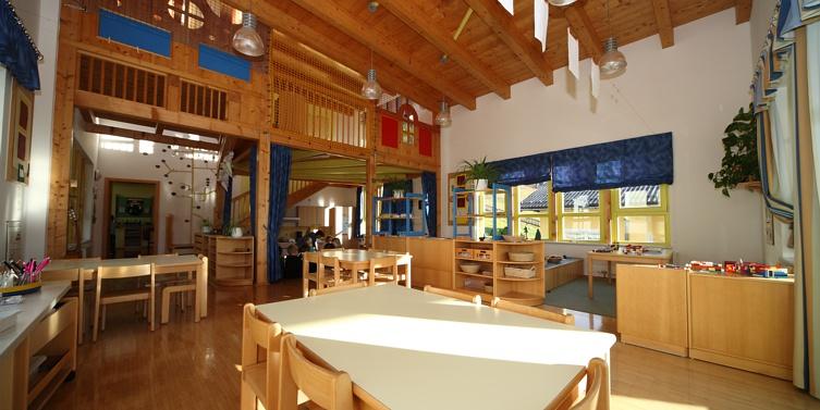 Gruppenraum Erdgeschoss, Kindergarten Aich