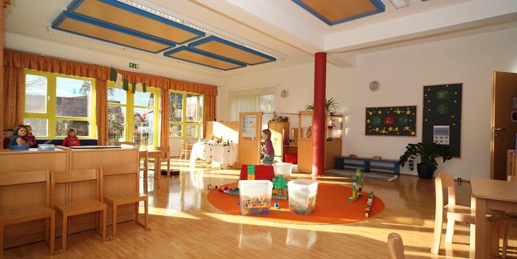 Gruppenraum Tiefparterre, Kindergarten Aich