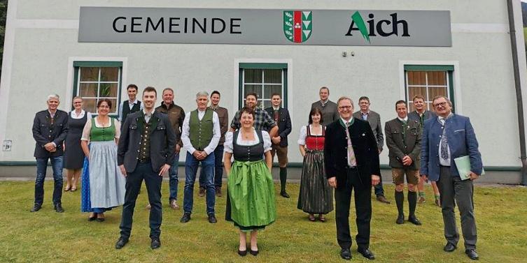 Gemeinde Aich, Konstituierende Sitzung, 24. Juli 2020